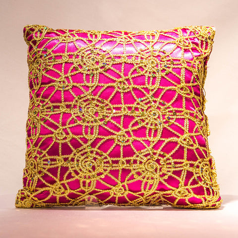 Gold Dream Lace Pillow