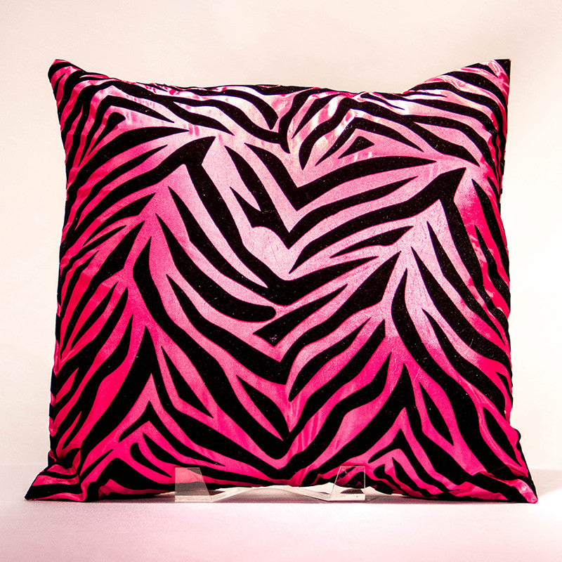 Fuchsia Zebra Pillow