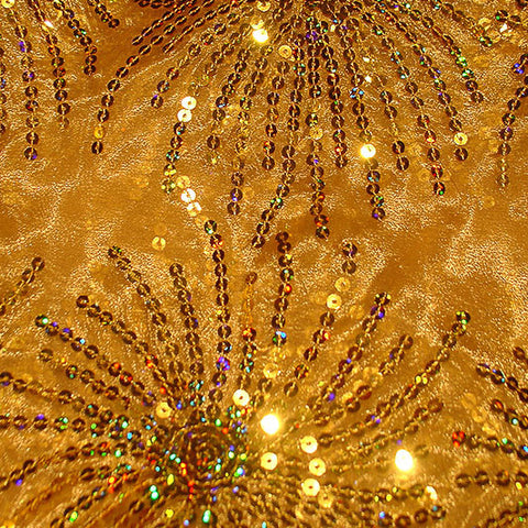 Gold Burst Sequins
