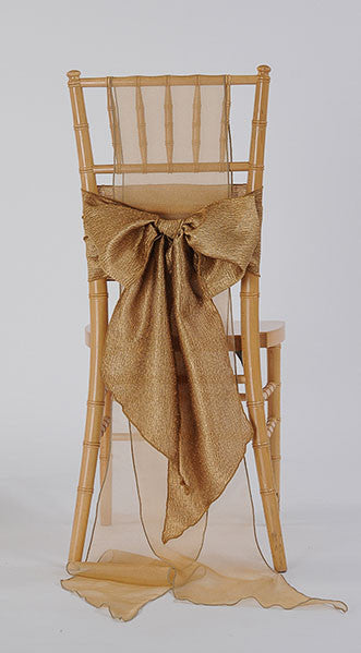 Gold Luster Chair Sash