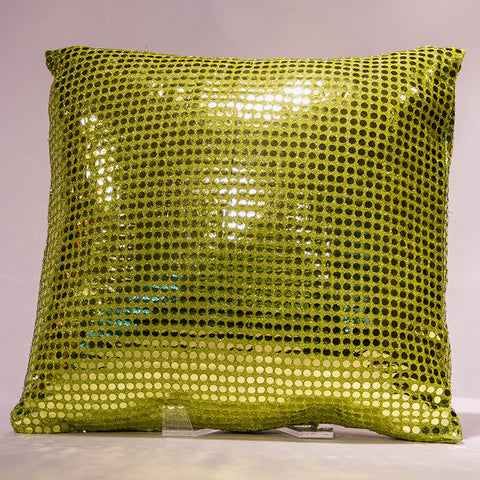 Lime Sequins Pillow