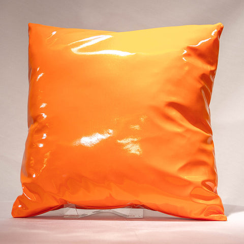 Orange Vinyl Pillow