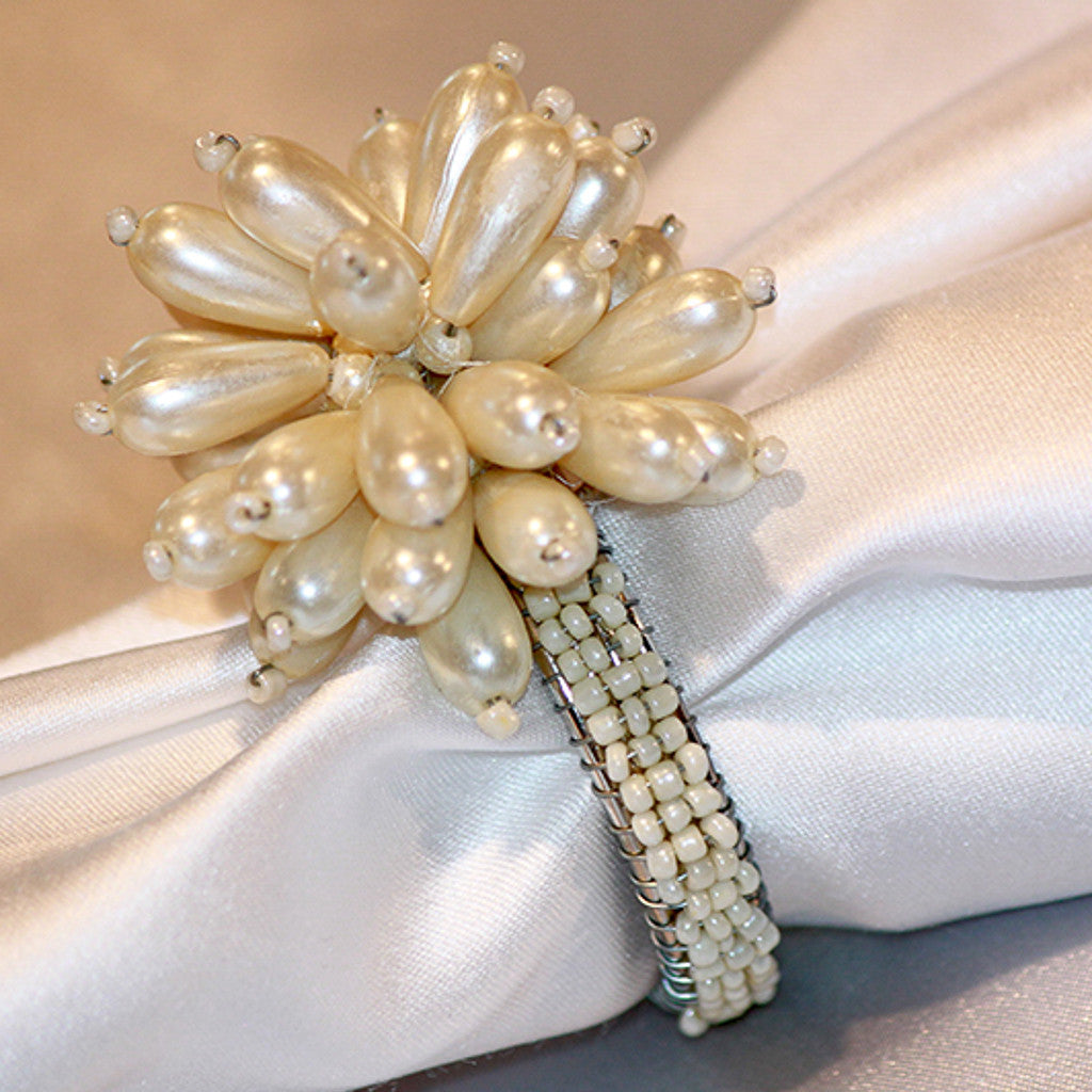 Pearl Flower Napkin Ring