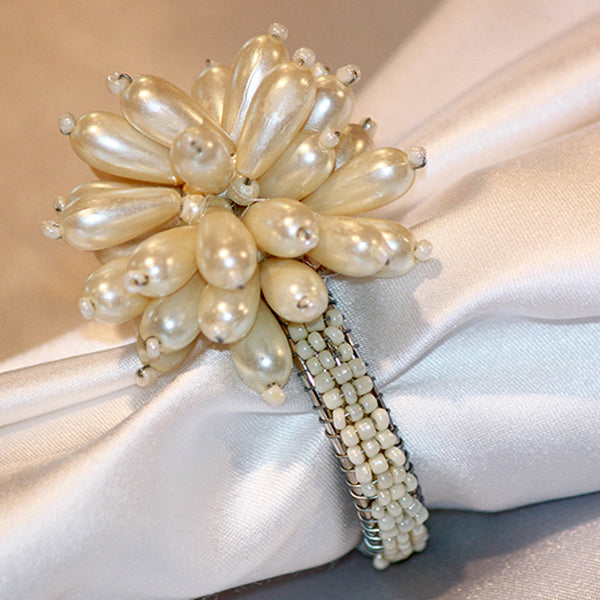 Pearl Flower Napkin Band