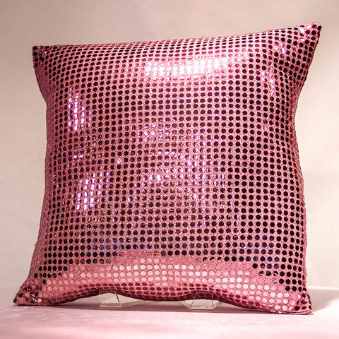 Pink Sequins Pillow