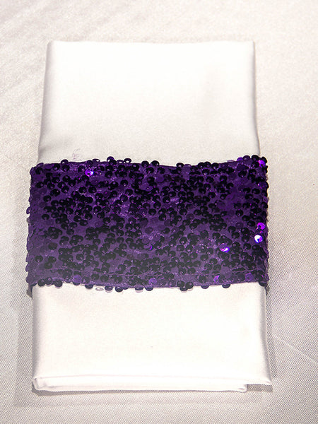 Purple Bling Napkin Band