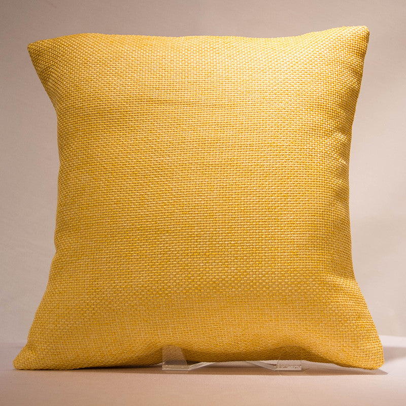 Saffron Jute Pillow