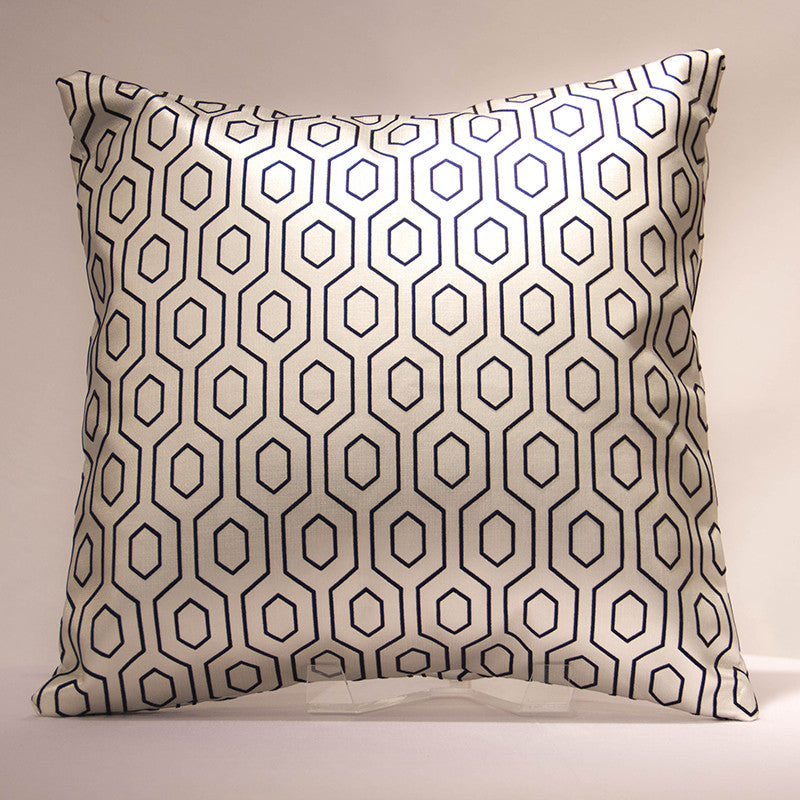 Silver Tracks Pillow