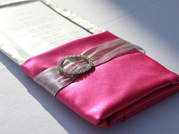 Silver Napkin Band with Rhinestone Buckle