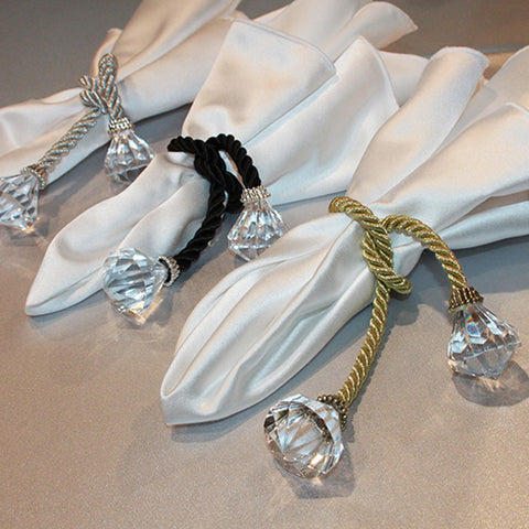 Tassel with Crystal Napkin Tie