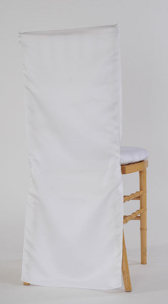 White Satin Chair Cover
