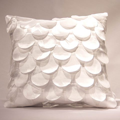 White Castinettes Pillow