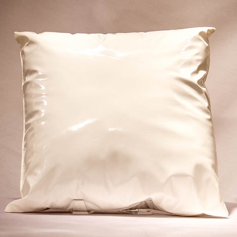 White Vinyl Pillow