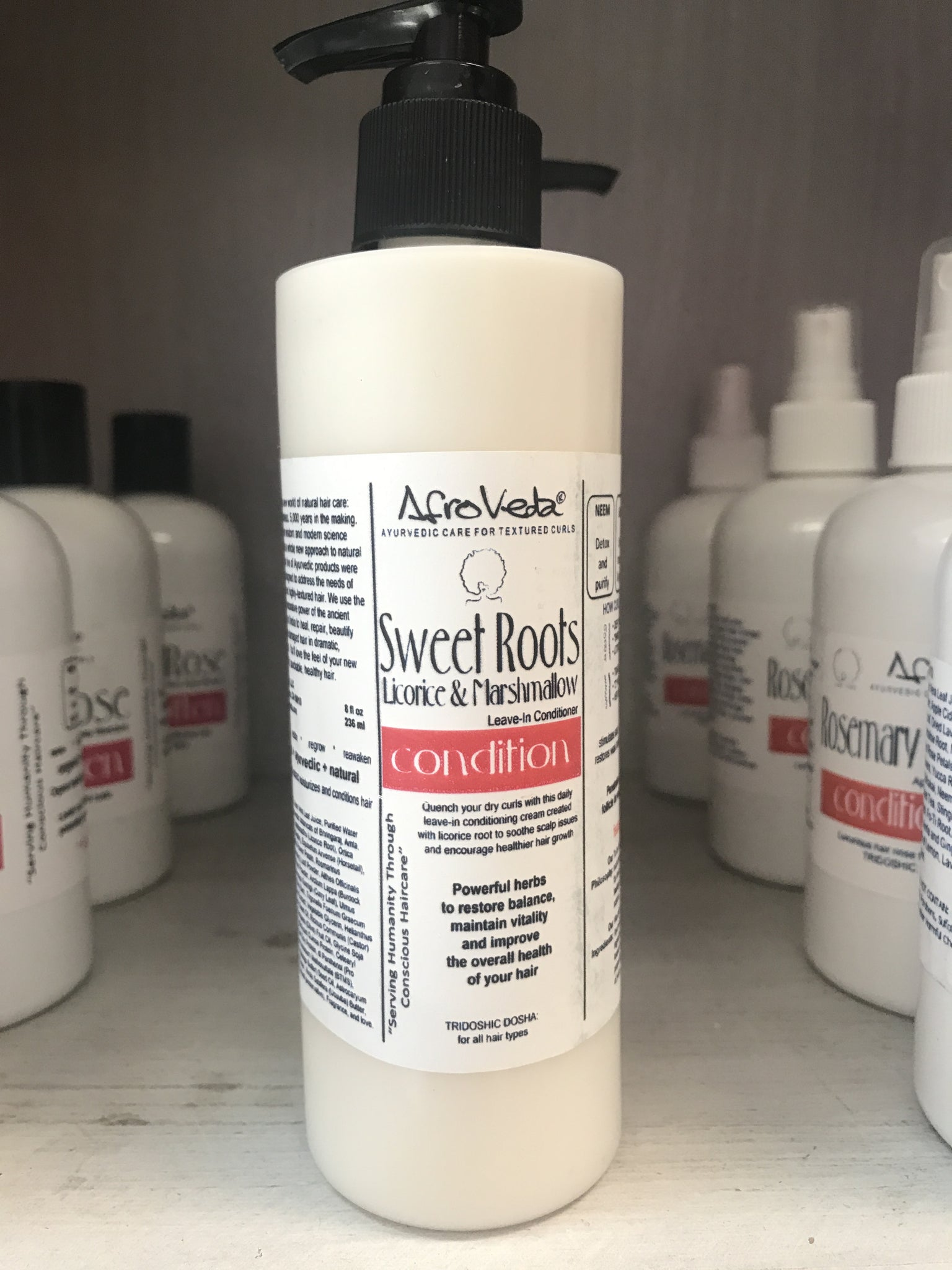 Sweet Roots Licorice & Marshmallow Leave-In Moisturizing Hair Cream