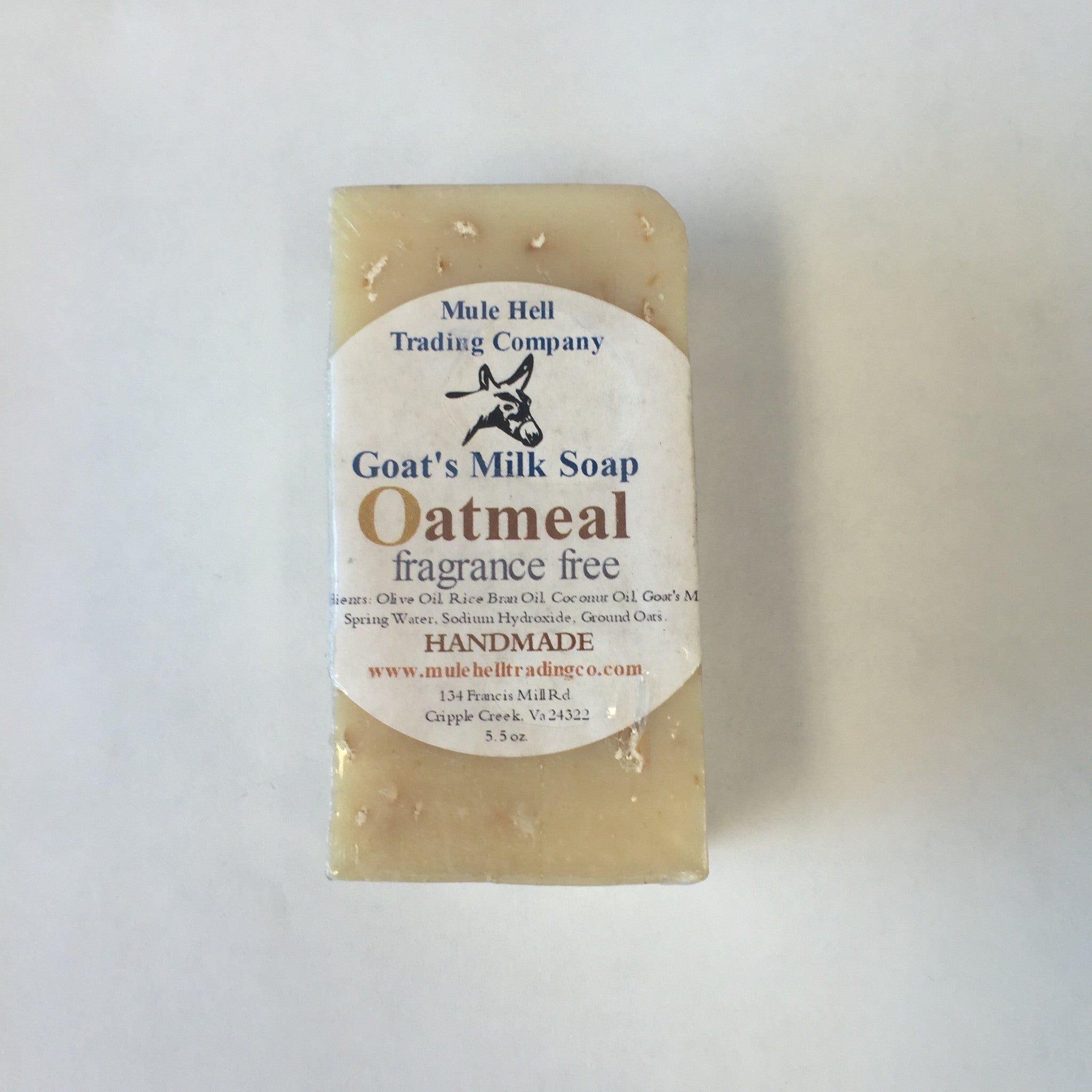 MH Oatmeal Goat's Milk Bar Soap