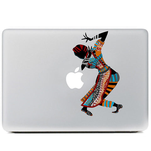 African Laptop Tattoo