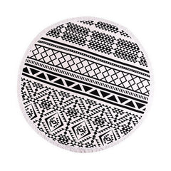 Black & White Tribal Beach Blanket