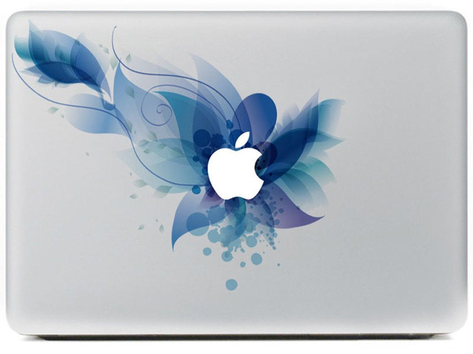 Blue Flower Laptop Tattoo