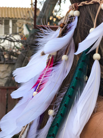 Feather Headband - Velvet