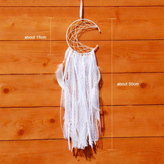Lace Half Moon Dreamcatcher