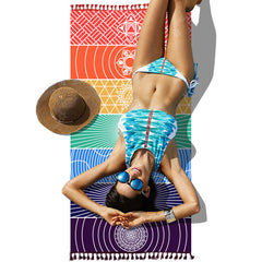 Chakras Beach Blanket / Yoga Mat