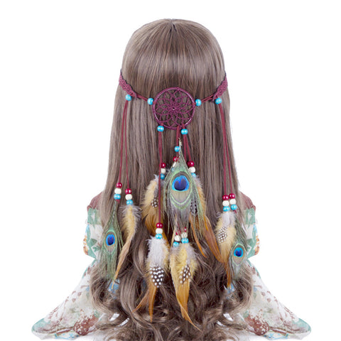 Dreamcatcher & Feathers Headband