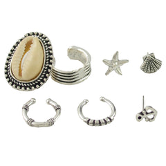 7 Pcs/Mermaid Studs Earrings Set