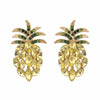 Pineapple Sparkle Retro Stud Earrings
