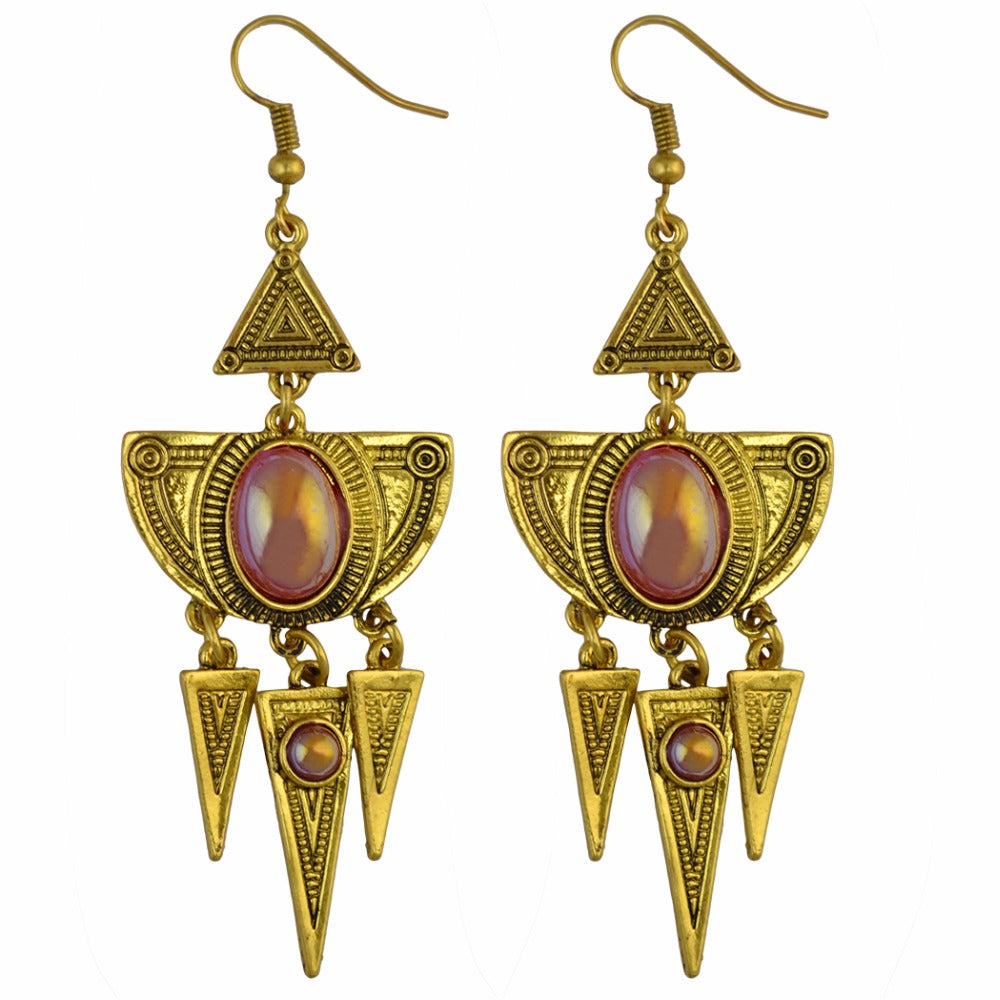 Cleo Tribal Dropdown Earrings
