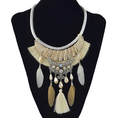 Dreamy Feathers Jumbo Necklace