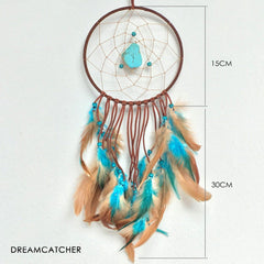 Turquoise Stone Brown Dreamcatcher