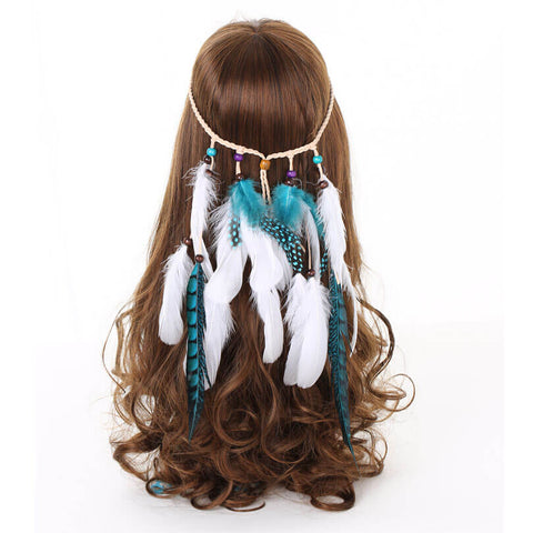 Ocean Feather Headband