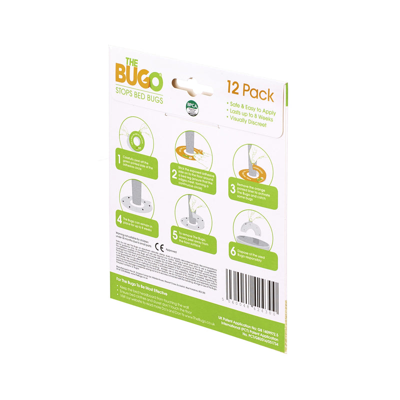 The Bugo - Stop Bed Bugs - Pack of 12 allthingssticky