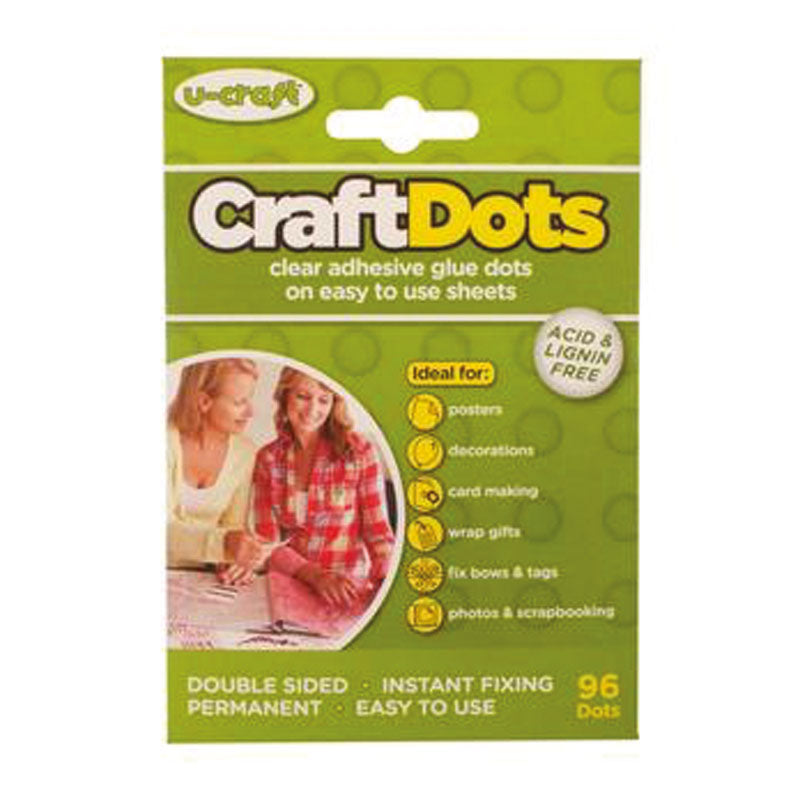 Craft Dots  - 96 x Permanent Glue Dots on perforated sheets