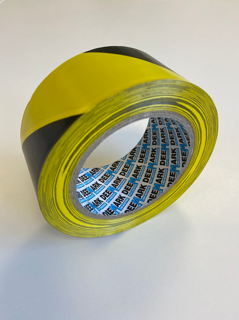 PVC Floor Marking Tape (Black & Yellow)