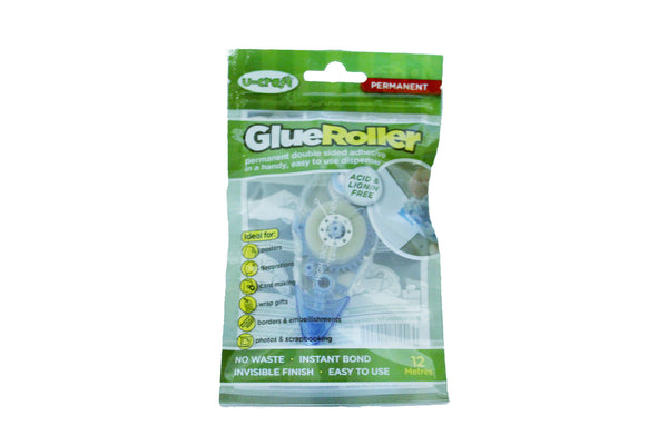 Glue Roller (12m) - available in removable or permanent allthingssticky fantastak
