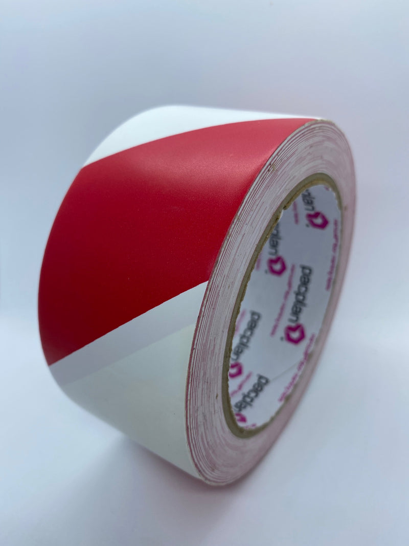 PVC Floor Marking Tape (Red & White)