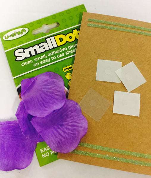 Small Glue Dots - 96 x permanent dots on perforated sheets