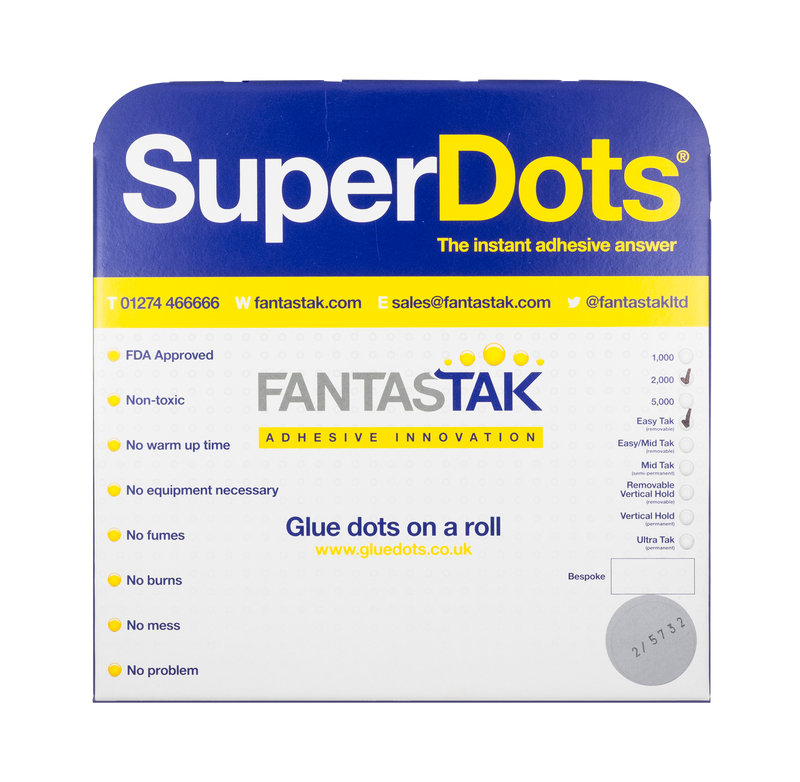 SuperDots Glue Dots (10mm) - 5000 dot roll