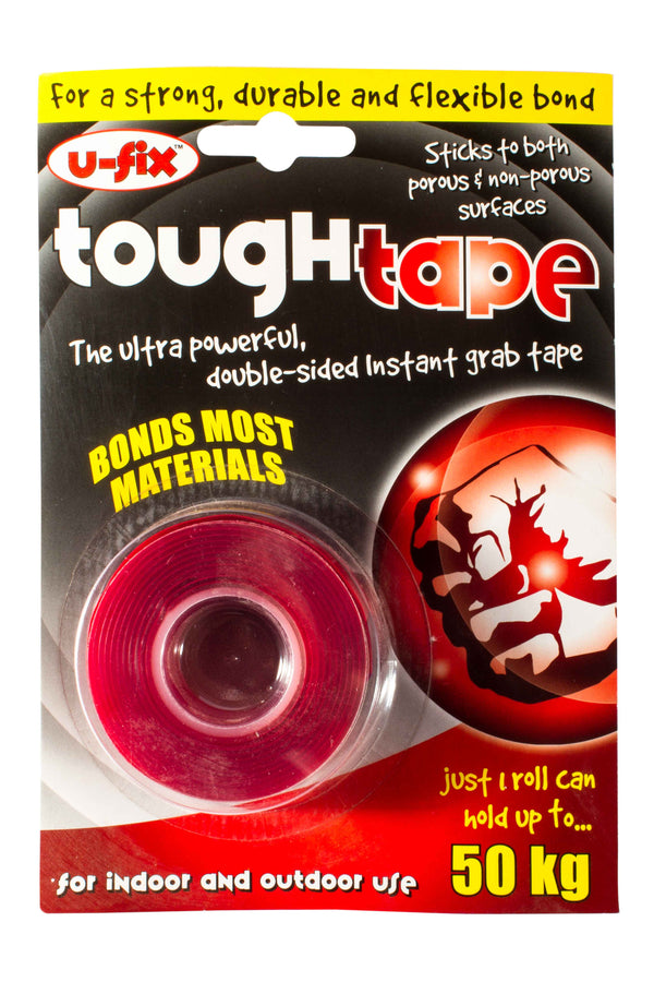 U-Fix Tough Tape - Ultra powerful, double sided, instant grab tape.