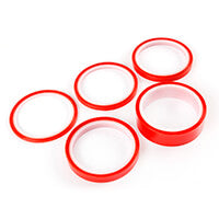 Ultra-Clear (red liner) Adhesive Tape Bundle - 5 rolls 3mm, 6mm, 9mm, 12mm & 25mm
