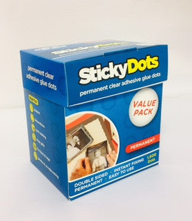 Sticky Dots VALUE PACK - 1600 x Permanent Glue Dots on Perforated Sheets