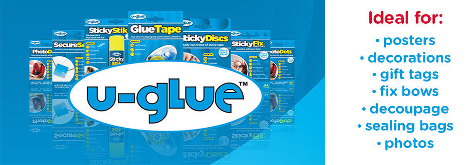 U-Glue - ideal for posters, decorations, gift wrap, fix bows, sealing bags, photos