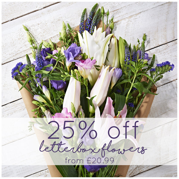 Get 25% off Postabloom's Letterbox Flowers