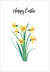 happy easter daffodil drawing card