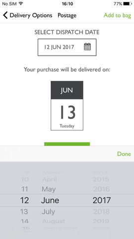 Postabloom app upgrade - delivery date