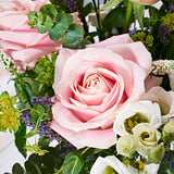 Above & Beyond Flower Delivery - Pink Roses & Lisianthus - Hand-tied Bouquets - Postabloom Flower delivery app