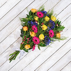 Carnival hand tied bouquet of flowers