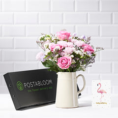 Delight Letterbox Flowers - Pink Roses & Chrysanthemum - Letterbox Bouquets - Postabloom Flower delivery app