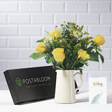Manhattan Letterbox Flowers - Yellow Roses & Alstroemeria - Letterbox Bouquets - Postabloom Flower delivery app